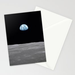 Earth rise over the Moon Stationery Cards