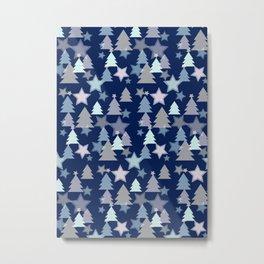 Christmas Landscape blue Metal Print