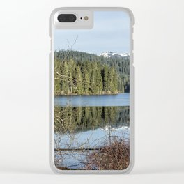 Morning Reflection on Fish Lake Clear iPhone Case