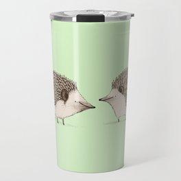 Two Hedgehogs Travel Mug
