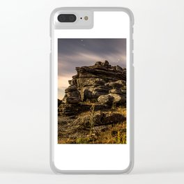 Moonlight Shadow Clear iPhone Case
