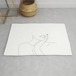 Figure line drawing illustration - Myra Rug