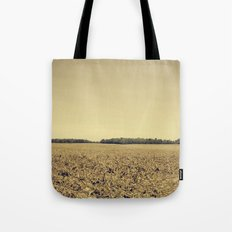 Lonely Field in Brown Tote Bag