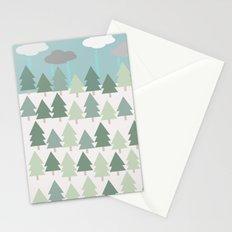 Pacific Northwest Tree and Rain Scene - Portland, PDX, Seattle, Washington, Oregon Stationery Cards