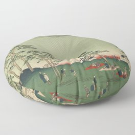 Spring Trees Mountain Ukiyo-e Japanese Art Floor Pillow