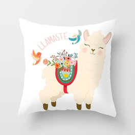 Llamaste - When A Llama Offers You A Respectful Greeting Throw Pillow