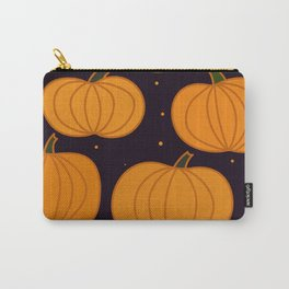 Halloween Orange Pumpkins Seamless Pattern Carry-All Pouch