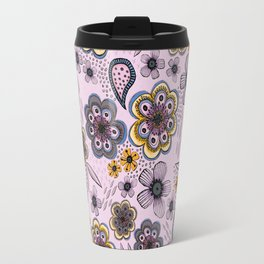 Floral paisley pattern, flowers and paisley surface pattern Travel Mug
