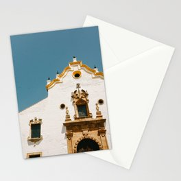 Old orange church in Malaga old town, Spain | Colorful pastal colors | Travel photography art print Stationery Cards