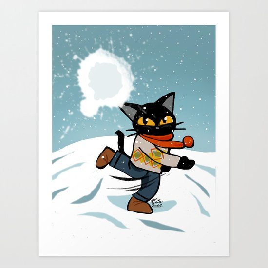 Snowball fight by batkei