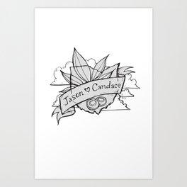 Jason and Candace Art Print