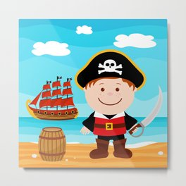 Pirate Boy Metal Print