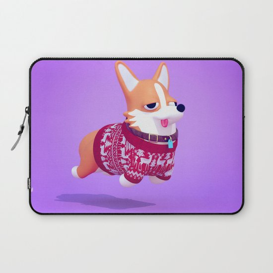 Dogs In Sweaters: Corgi Laptop Sleeve