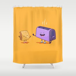 Best friends (Bread and toaster. Character set.) Shower Curtain
