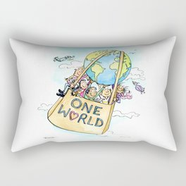 One World Together Eco Art Rectangular Pillow
