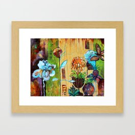 Santa Fe Garden Framed Art Print