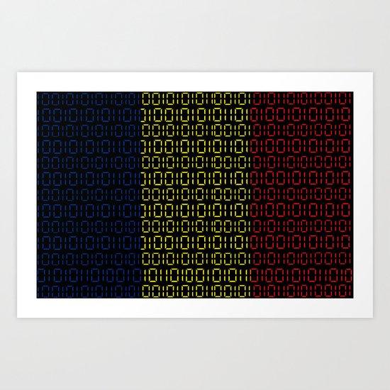 digital Flag (Chad) Art Print