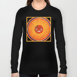 The sun Huichol art Long Sleeve T-shirt