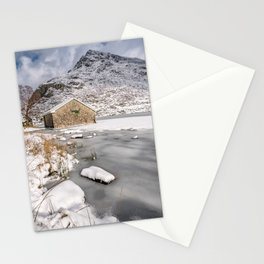 Frozen Lake Snowdonia Stationery Cards