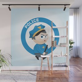 Police Wall Mural
