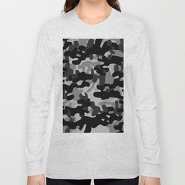 Camouflage (Gray) Long Sleeve T-shirt
