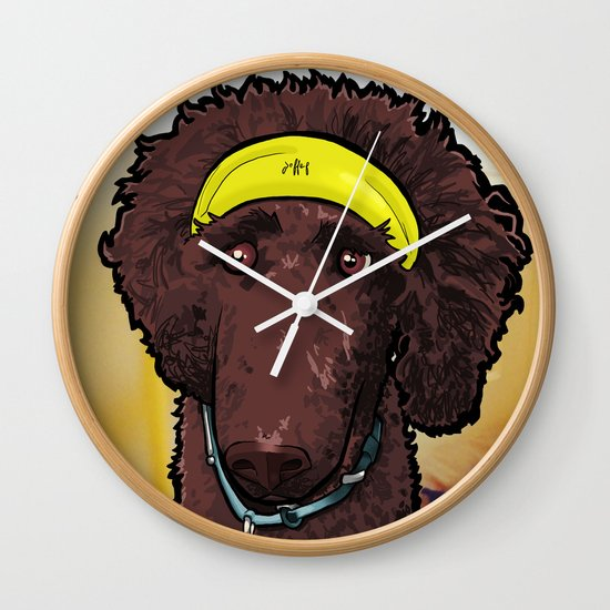 Hobbes (poodle) Wall Clock