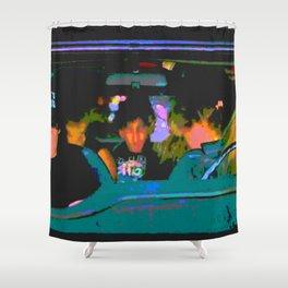 Wayne & Garth Bohemian Galileo Shower Curtain
