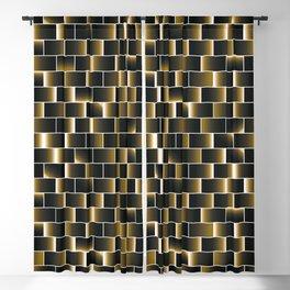 Golden set of tiles Blackout Curtain