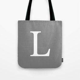 Darker Gray Basic Monogram L Tote Bag