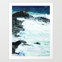 Waves at the shore Art Print