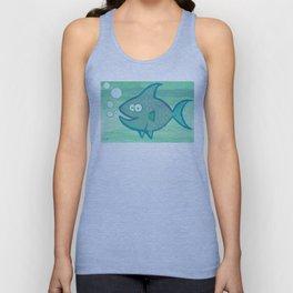 Happy Fish!!!! Unisex Tank Top