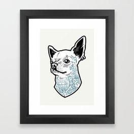 Tattooed Chihuahua Framed Art Print