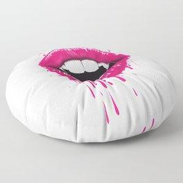 vampire lips Floor Pillow