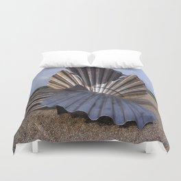 The Scallop sculpture by Maggi Hambling.  Duvet Cover