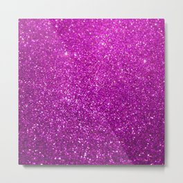 Purple Glitter Shiny Sparkley Metal Print