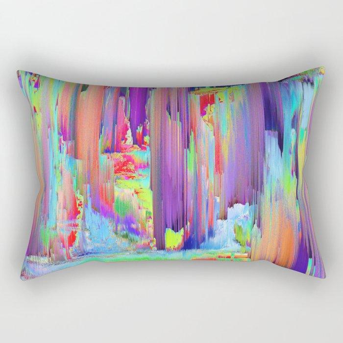 Pixel Sorting 43 Rectangular Pillow