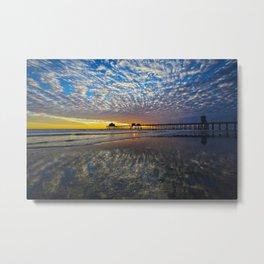 Huntington Beach Sunset  3/3/14  Metal Print