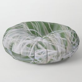 Abstract Image of Tropical Green Palm Leaves  Floor Pillow