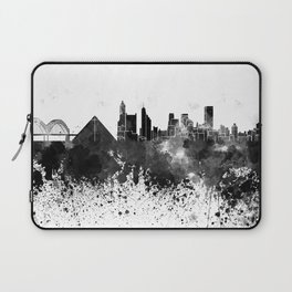 Memphis skyline in watercolor on white background Laptop Sleeve
