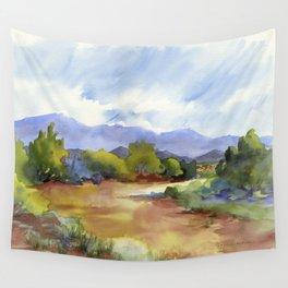 Distant Santa Fe Wall Tapestry
