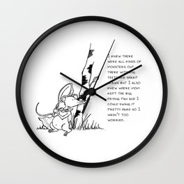 All kinds of monsters Wall Clock