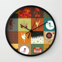 PATCHWORK198 Wall Clock