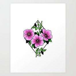 Nootka Rose Art Print