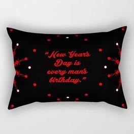 """New years... """"Charles Lamb"""" Christmas Quote Rectangular Pillow"""