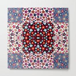 Flower patchwork. Metal Print