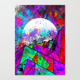 As a new planet is born Canvas Print