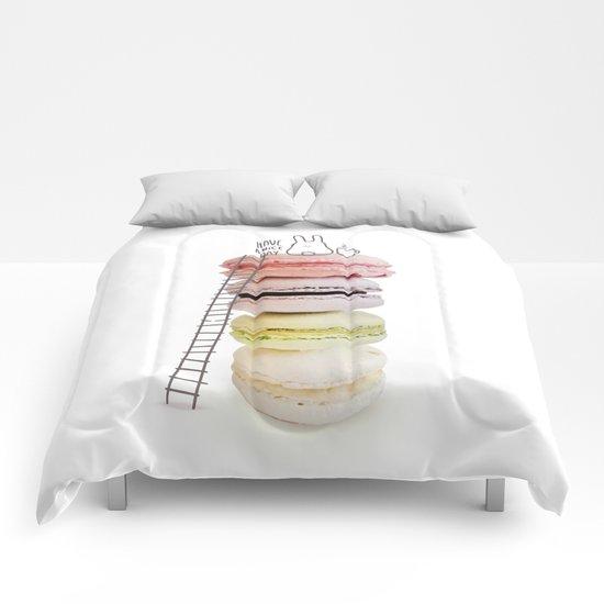 Bunny & macarons Comforters