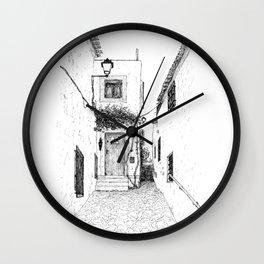 Ink drawing door Wall Clock
