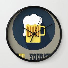 Beer Yourself Wall Clock