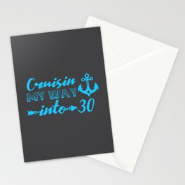 On the Way Into The Thirties 30th Birthday Stationery Cards